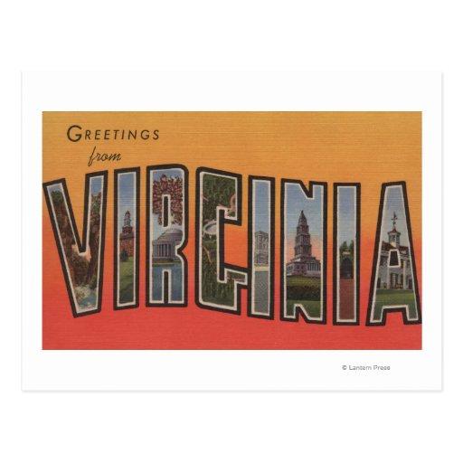 Letra ScenesVirginia 3 de VirginiaLarge Tarjetas Postales