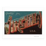 Letra ScenesVirginia 4 de VirginiaLarge Tarjeta Postal