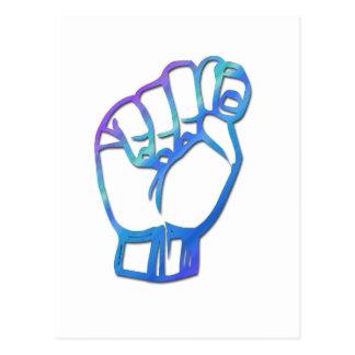Letra T del alfabeto del ASL Postal