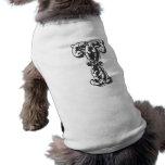 Letra T del monograma Camisas De Perritos