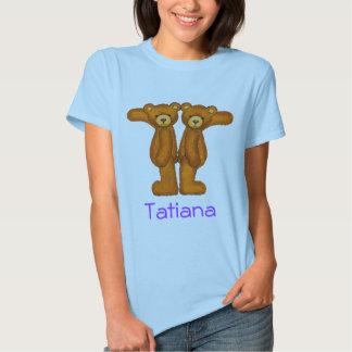 Letra T Initial~Custom Name~Shirt del alfabeto del Remeras