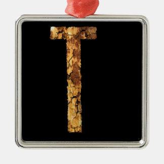 Letra T Ornamento Para Arbol De Navidad