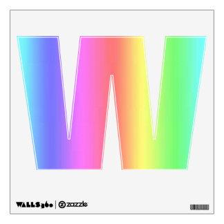 Letra W de la etiqueta de la pared de la fusión Vinilo