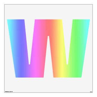 Letra W de la etiqueta de la pared de la fusión Vinilo Decorativo