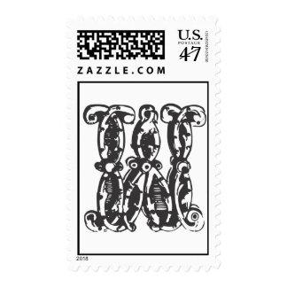 Letra W de sellos del monograma