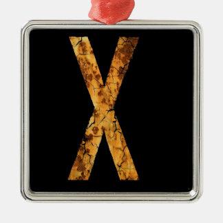 Letra X Adorno De Navidad