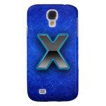 Letra X - edición azul de neón