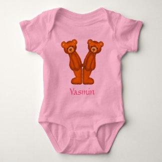 Letra Y Initial~Custom Name~Shirt del alfabeto del Mameluco De Bebé