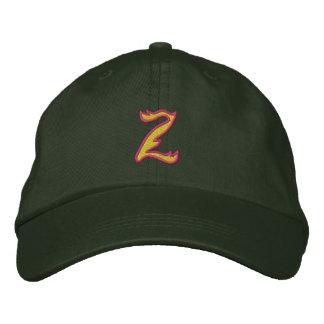Letra Z del fuego #1 Gorras Bordadas