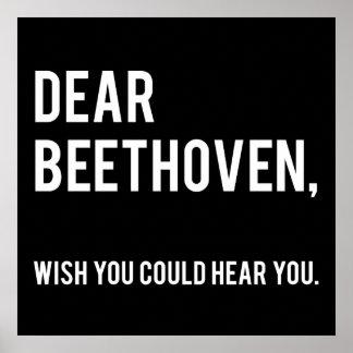 Letras a la gente muerta: Beethoven Póster