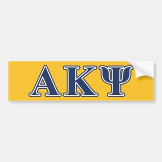 Letras alfa de la marina de guerra de Kappa PSI Etiqueta De Parachoque