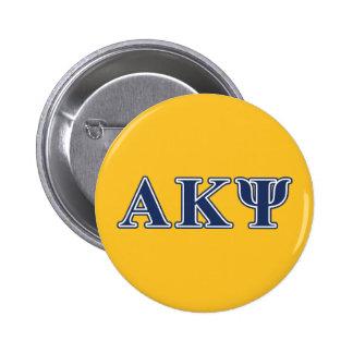 Letras alfa de la marina de guerra de Kappa PSI Pin Redondo De 2 Pulgadas