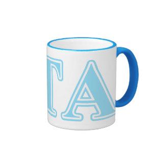 Letras alfa de los azules cielos del Tau de la Taza De Café