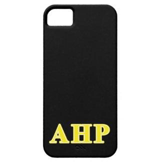 Letras alfa del amarillo de rho de Eta iPhone 5 Case-Mate Protector
