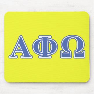 Letras alfa del azul de Omega de la phi Alfombrilla De Ratón