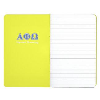Letras alfa del azul de Omega de la phi Cuaderno