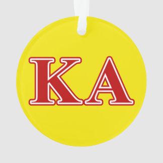 Letras alfa del rojo de la orden de Kappa