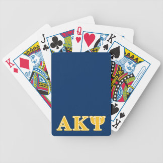Letras amarillas alfa de Kappa PSI Baraja