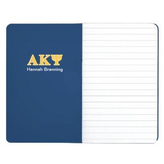 Letras amarillas alfa de Kappa PSI Cuadernos