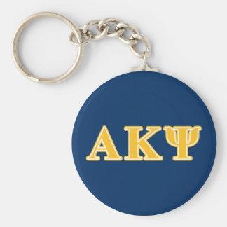 Letras amarillas alfa de Kappa PSI Llavero