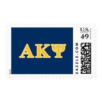 Letras amarillas alfa de Kappa PSI Envio