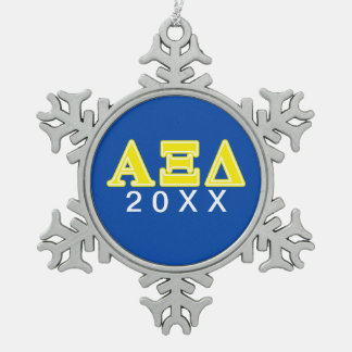 Letras amarillas del delta de la alfa XI Adorno