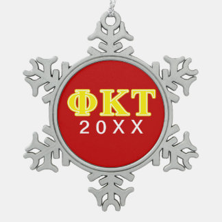 Letras amarillas del Tau de Kappa de la phi Adornos