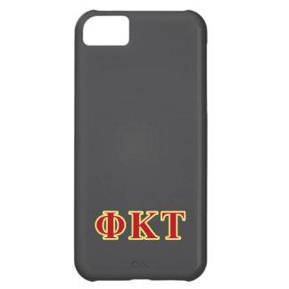 Letras amarillas y rojas del Tau de Kappa de la Funda Para iPhone 5C