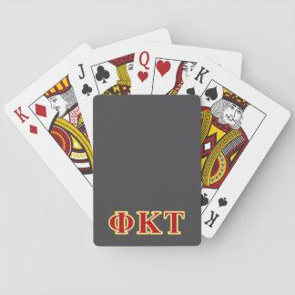 Letras amarillas y rojas del Tau de Kappa de la Cartas De Póquer