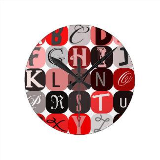 Letras anónimas para el diario del arte o reloj de pared