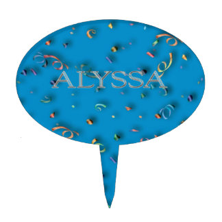 Letras aumentadas personalizado de Alyssa Figura De Tarta