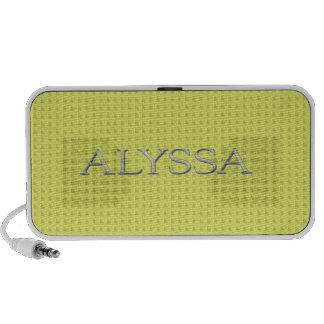 Letras aumentadas personalizado de Alyssa iPhone Altavoces