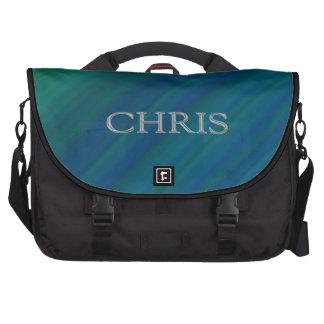 Letras aumentadas personalizado de Chris Bolsas Para Portátil
