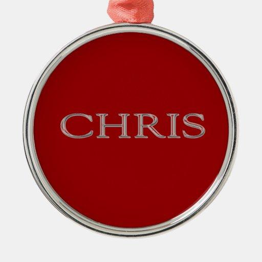 Letras aumentadas personalizado de Chris Adorno De Navidad