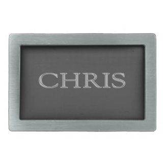 Letras aumentadas personalizado de Chris Hebilla Cinturón