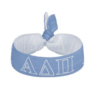 Letras azul marino alfa del delta pi banda para el cabello