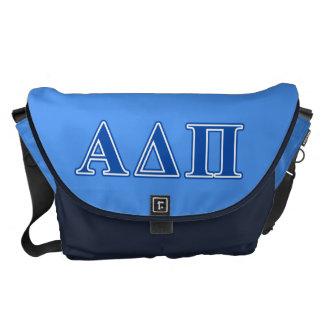 Letras azul marino alfa del delta pi bolsa messenger