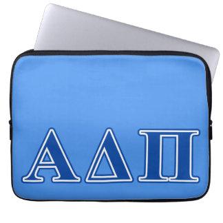 Letras azul marino alfa del delta pi funda portátil
