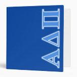 Letras azules claras alfa del delta pi