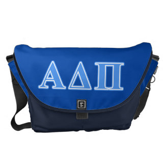 Letras azules claras alfa del delta pi bolsa messenger