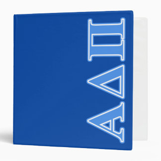 """Letras azules claras alfa del delta pi carpeta 1 1/2"""""""