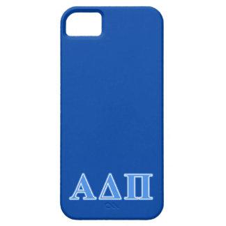 Letras azules claras alfa del delta pi iPhone 5 fundas