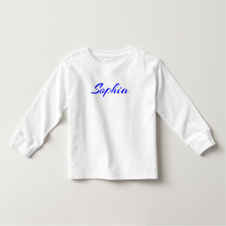 Letras azules de Sophia personalizadas Remeras