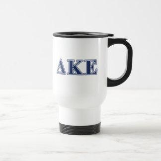 Letras azules épsilones de Kappa del delta Taza De Viaje