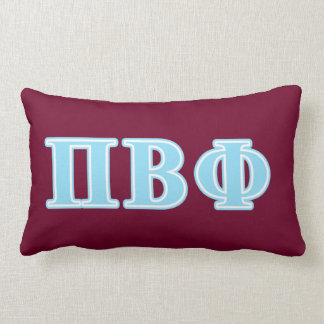 Letras beta del azul de la phi del pi almohada