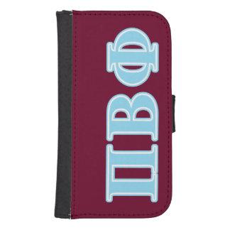 Letras beta del azul de la phi del pi billetera para teléfono