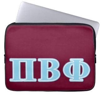Letras beta del azul de la phi del pi manga portátil