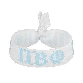 Letras beta del azul de la phi del pi elástico para el pelo
