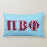 Letras beta del marrón de la phi del pi almohadas