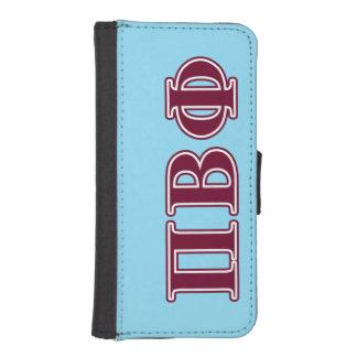 Letras beta del marrón de la phi del pi billetera para teléfono